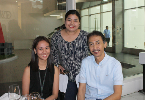 Hope Manatad with Arthaland Corporation: Frances Francisco and Gabby Paulino