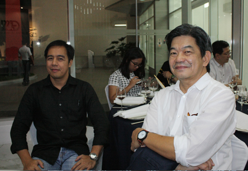 Nolan Llanora of Landmark Realty & Corporation Development withArch. Jose Arlie Cruz of GF & Partners