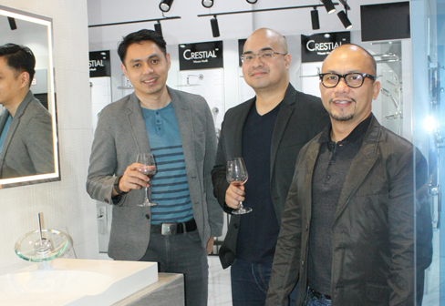 Herold Dizon, Cesar Monasterial and Idr. Joel Navarro of JCSN Interior+Designs