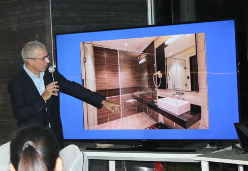 Franco Ferri in his presentation of Dexterton Hansa Projects in Two Seasons Coron Bayside Hotel, Coron Palawan