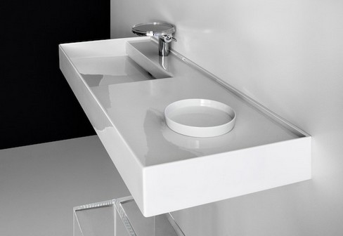 laufen bathroom furniture. Introduced In The New Kartell By Laufen Bathroom Is Revolutionary SaphirKeramik, A Material Weighing Half That Of Normal Ceramics For Extreme Lightness. Furniture R