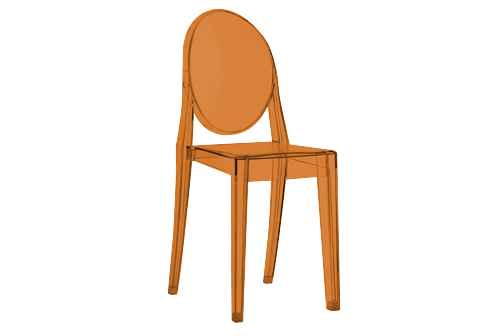 Victoria Ghost Chair -Orange